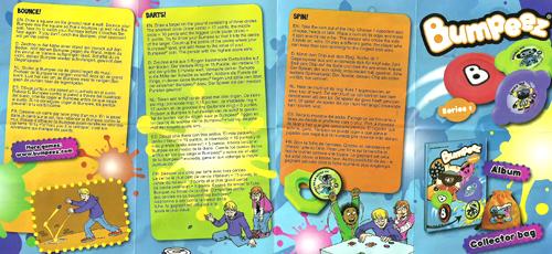 Bumpeez Collectors Leaflet