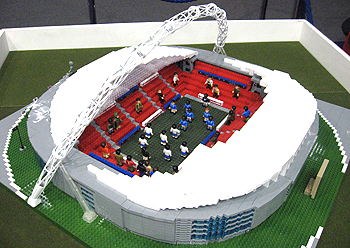 Toy Character Building Wembley Stadium and Sports Stars Figures