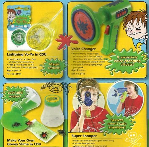 Horrid Henry Toys