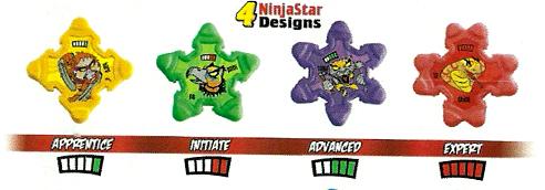 Jitzu Ninja Stars Four Styles