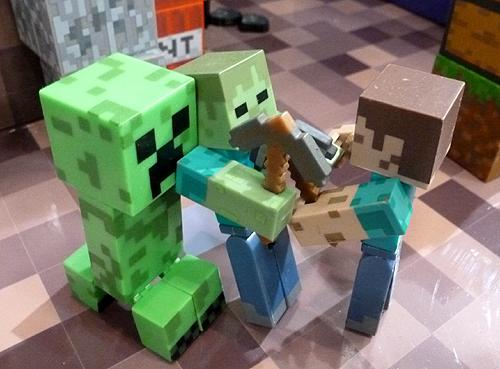 Minecraft new toy brands - Minecraft creeper and steve ...
