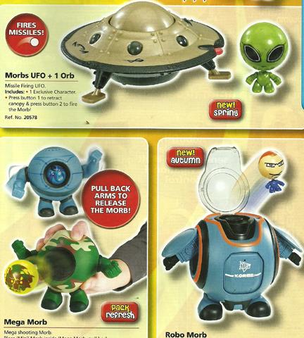 Morbs UFO, Mega Morb & Robo Morb