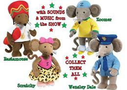 """Rastamouse Toys 9"""" Plush Figures"""