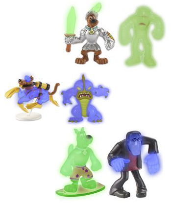 Glow in the Dark Scooby Doo Figures