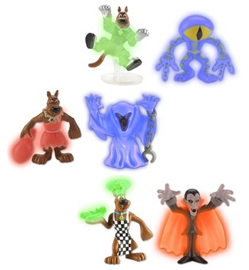 Mystery Mates Glow in the Dark Scooby Figures