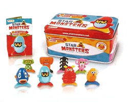 Star Monsters Figures and Tin