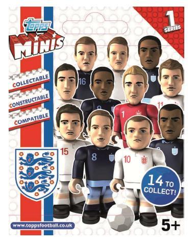 Topps Minis England Figures