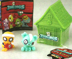 Zomlings Toys and Zomlings House